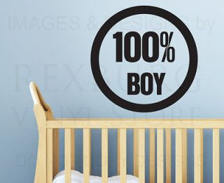 Wall Quote Decal Sticker Vinyl Lettering Large All Boy Nursery Babys