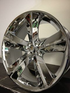 Chrome Dodge Challenger SRT8 Factory Replica Wheels Rims 5x115 Charger