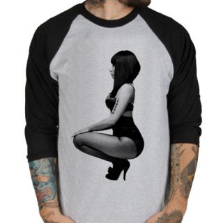 Nicki Minaj BW rap hip hop Baseball Jersey t shirt 3/4 sleeve Raglan