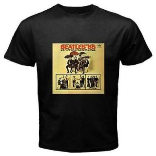 Beatles 1965 Record Album Cover Mens Black T Shirt