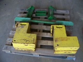 11 JOHN DEERE 620 630 TRACTOR STEEL SUITCASE WEIGHTS AND BRACKETS FOR