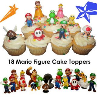 Super Mario Brother Cupcake Cake Toppers / Decorations   Party Favors