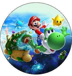 Custom SUPER MARIO BROS GALAXY Edible Image Cake Topper Cake Sticker