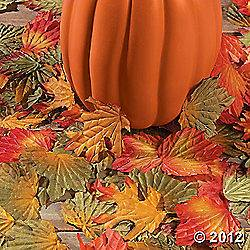 of 250 Polyester Fall Autumn Leaves Wedding Table Scatter Decoration