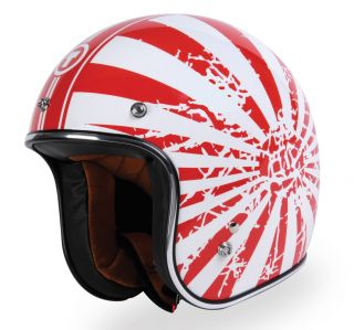TORC T50 OLD JAPANESE FLAG Motorcycle Helmet /CLASSIC 3/4 / DOT