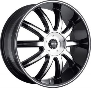 & WHEELS MKW M112 BLACK DODGE RAM 2006 2007 2008 2009 2010 2011 2012