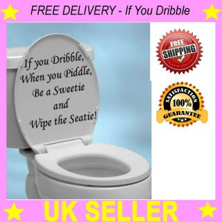 Toilet Seat Decal Wall Art Wallpaper Funny Hanging Sticker If You