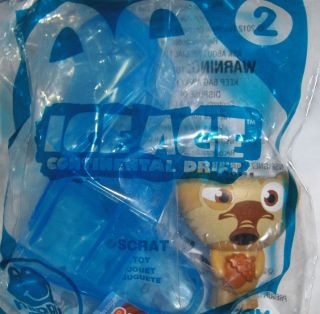 Mcdonalds Ice Age Continental Divide Toy # 2 Scrat Action PVC Figure