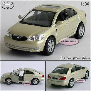 New 136 Toyota Corolla Alloy Diecast Model Car Champagne B198a