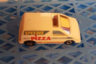 HOT WHEELS 1985 FORD AEROSTAR PIZZA VAN WHITE LOOSE NEAR MINT