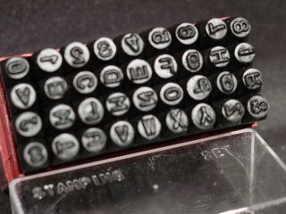 Steel Metal Letter Alphabet & Number Stamping Stamp Punch Set