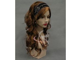 Mannequin Head Vintage Wig Hat Earrings Jewelry Necklace Display MD