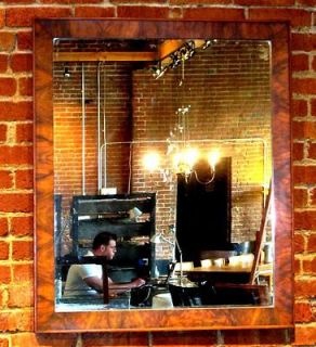 Gorgeous Art Deco Burl Walnut Wall Mirror