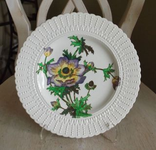 Royal Cauldon England Purple Flower Series Luncheon Plate #2478