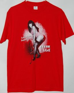 Bettie Page Lets Have Some Fun red T Shirt tee