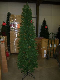CLEARANCE 9 FOOT SLIM PENCIL PINE CHRISTMAS TREE 9 FT METAL STAND