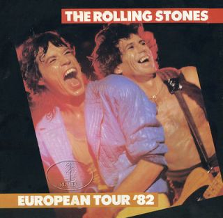 ROLLING STONES 1982 EUROPEAN TOUR CONCERT PROGRAM BOOK Mick Jagger