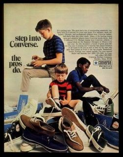1969 Converse All Star canvas shoes many styles photo vintage print ad