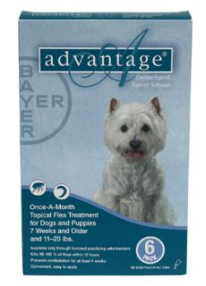 Month Advantage Flea and lice treatment dogs 11 20lbs