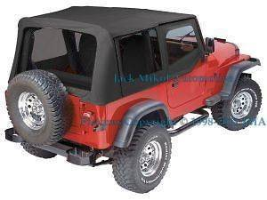 COMBO 97 06 JEEP WRANGLER REPLACEMENT SOFT TOP + HANDLES (Fits Jeep