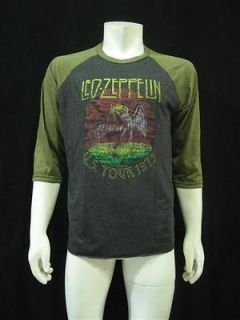 LED ZEPPELIN U.S.Tour 1975 Vintage Re Printed Jersey Mens T Shirt L