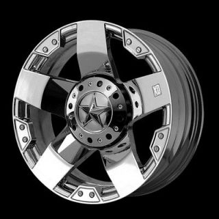 KMC XD 775 CHROME ROCKSTAR RIMS & TIRES FEDERAL COURAGIA MT 35 WHEELS