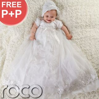 Baby Girls White Dress Traditional Baptism Gown Christening Dresses 0