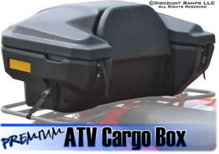 ATV REAR CARGO RACK STORAGE BOX PADDED SEAT BACKREST (ATV CB 8030