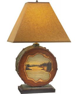 Woolrich Bear Creek Drum Table Lamp