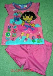 New Dora The Explorer Girls Summer Tee Pyjamas/PJ Size 1, More size