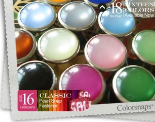 16 COLORS Pearl Snap Buttons decorative fastener western cowgirl