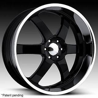 BOSS WHEELS RIMS BLACK 24X10 STYLE 330 6X5.5