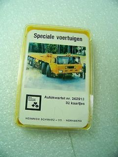 DUTCH CARD GAME GO FISH SPECIAL VEHICLE DUMP TRUCKS, CRANES, ETC. FROM