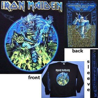 IRON MAIDEN SOMEWHERE 2008 TOUR BLK LONGSLEEVE SHIRT S