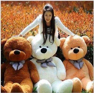 NEW HOTGIANT 80 BIG PLUSH TEDDY BEAR HUGE SOFT 100% COTTON TOY*3