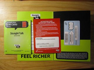 STRAIGHT TALK MICRO SIM CARD ACTIVATION KIT for ATT IPHONE 4/4S & GS3