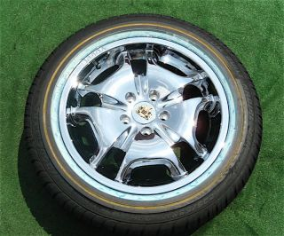 Brand NEW Genuine VOGUE FLUXX 17 inch Chrome Wheels Tyres Cadillac