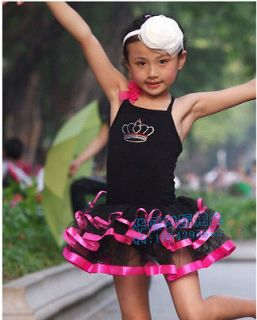 Girls Tutus Dance Party Leotard Ballet Costume Tutu Skirt Girl Dress