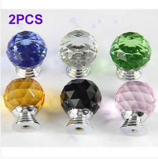 Crystal Knob Cabinet Pull Handle Drawer Kitchen Door Wardrobe