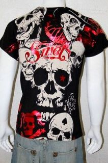 NWT Smet By Christian Audigier Crew Neck Men Black T shirt Size XLarge