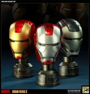Iron Man   Helmet Set 13 Scale Set of 3 (SDCC Exclusive)  B/New in
