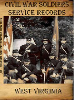 West Virginia Civil War Soldiers Service Records on CD ROM