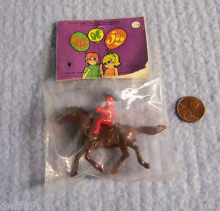 VINTAGE TOYS OF JOY   PLASTIC HORSE & RIDER   NADEL & SONS TOYS   1960