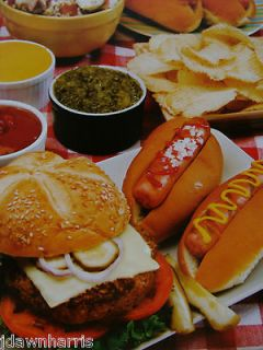 1000 Pc Hamburgers Hot Dogs Chips Pickles Food Picnic Jigsaw Puzzle