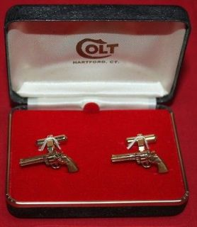 COLT Firearms Factory Python cuff links 10k Gold Filled Mint