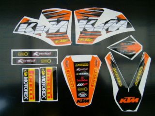 2002 2008 KTM SX 50 GRAPHICS   STICKERS   DECAL KIT