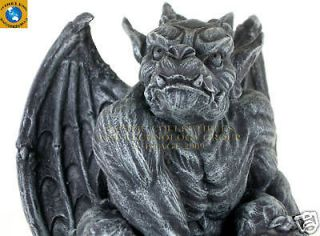 PERCHING WINGED KING KONG GARGOYLE STATUE 7 H FIGURINE