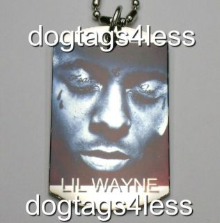 LIL WAYNE Dog Tag HIP HOP DogTag Necklace FREE Chain 6
