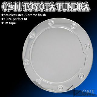 TOYOTA TUNDRA FUEL GAS TANK DOOR COVER CAP TRIM BEZEL STAINLESS STEEL