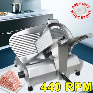 Steel Meat Slicer Commercial Restaurant Electric Deli Food Cutter